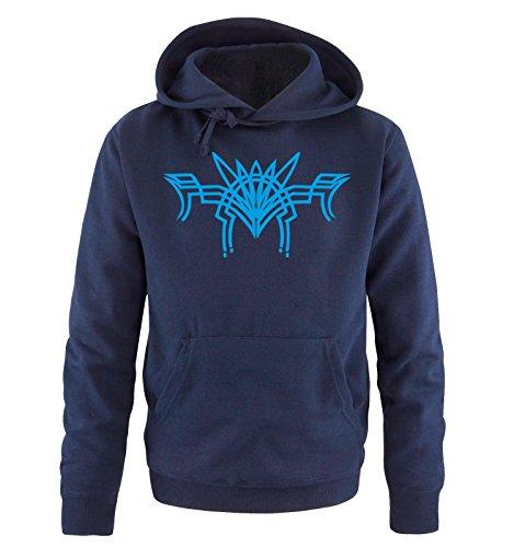 Comedy Shirts - TRIBAL - Uomo Hoodie cappuccio sweater - taglia S-XXL different colors blu navy / blu