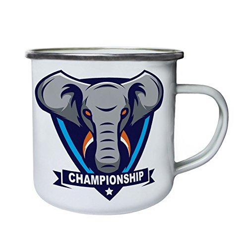 Campeonato de elefantes Deportes Retro, lata, taza del esmalte 10oz/280ml x103e