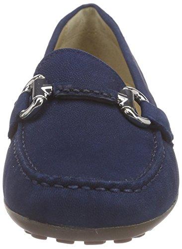 Geox Donna Euro D, Mocassins Femme Bleu (C4072)