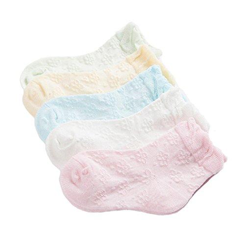 DEBAIJIA Calcetines Niñas Calcetines Finos De Flores