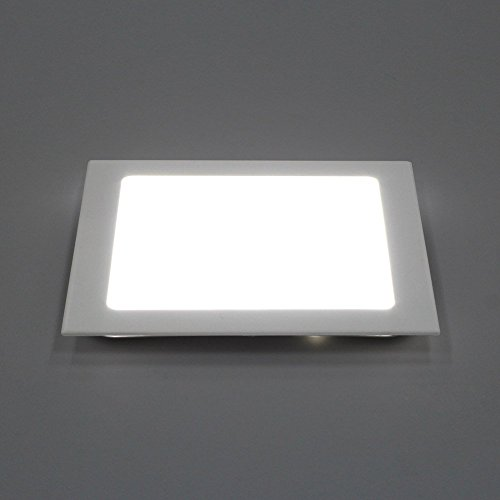Square ceiling lights amazon amzdeal dimmable 18w square led recessed ceiling panel down light ultra slim down lamp for dining room living room corridor conference room and mozeypictures Image collections