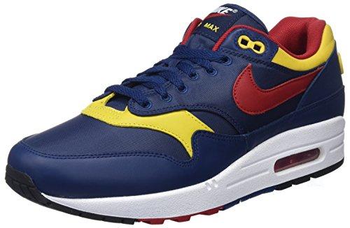 Nike Herren Air Max 1 Premium Gymnastikschuhe, Blau (Navy/Gym Red/Vivid Sulfur/Whit 403), 43 EU (Max Air 1 Usa)