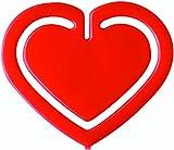 Laurel Büroklammer Herz-Klip, PS Beutel, rot