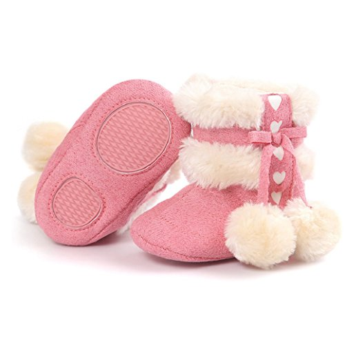 Fulltime® Chaussures Baby Soft Sole Bottes de neige molle Crib Toddler Pastèque rouge
