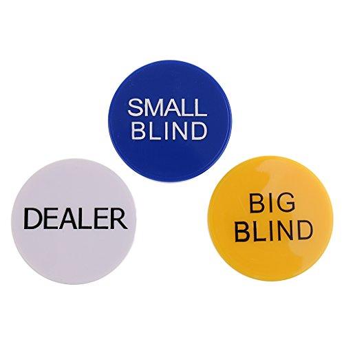 Sharplace Poker Buttons Set - Dealer/ Big Blind / Small Blind