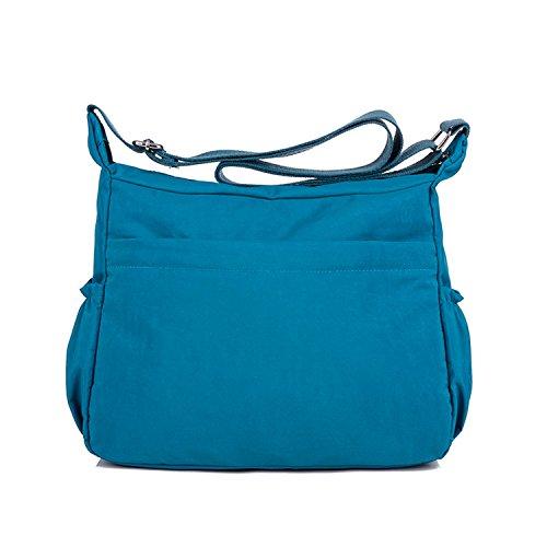 Spalla Borse Ragazze Scuola Impermeabile Tracolla per Borsello Moda Borse Borsa Bag Blu Sport Donna a Borsetta Leggero 2 MeCooler Sacchetto da Viaggio 5qw8ntUzx