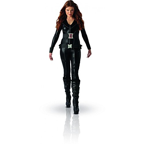 Schwarzes Witwen-Kostüm für Damen (Widow Kostüm Avengers Gürtel Black)