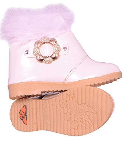 Fashion shoes Baby Girls Leather White Shoes(2.5-3 Years)