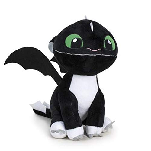 HTTYD Drachenzähmen leicht gemacht - Dragons - Plüsch Baby Drache schwarz mit grünen Augen 10