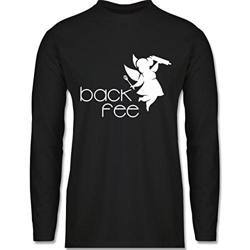 Küche - Back Fee dicke Fee - Longsleeve / langärmeliges T-Shirt für Herren Schwarz