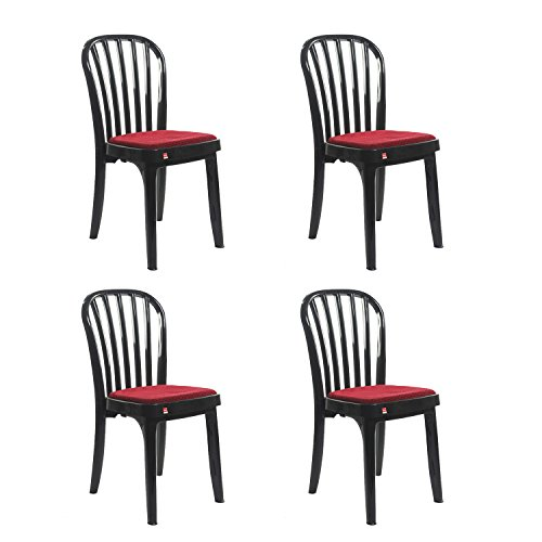 Cello Decent Delux Set of 4 Chairs (Black)