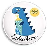 dabelino Schulkind 2019 Button: Dinosaurier (Junge) Ø 38 mm