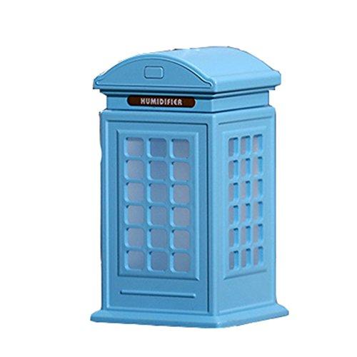 LX7 Aromatherapie-Ätherisches Öl-Diffusor-Kühler Nebel-Luftbefeuchter Ultraschall-Eigenschaft LED-Licht-Haus, Büro, Wohnzimmer, Badekurort, Auto,Blue (Kapazität Hohe Licht)