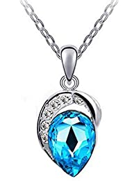 YouBella Gracias Collection Swiss Zircon Jewellery Water Drop Pendant / Necklace For Women And Girls