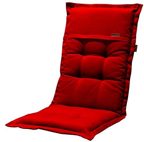 Madison 7PHOS-F118 Stuhlauflage, hoch Rib, 123 x 50 cm, Acryl, rot