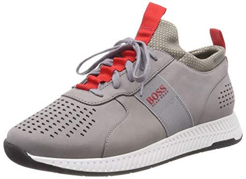 BOSS Athleisure Titanium_Runn_Lux Scarpe da Ginnastica Basse Uomo, Grigio (Medium Grey 030) 41 EU