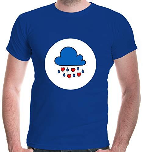 buXsbaum® Herren T-Shirt Glücksbärchi Wolke Kostüm Fasching | XL, Blau