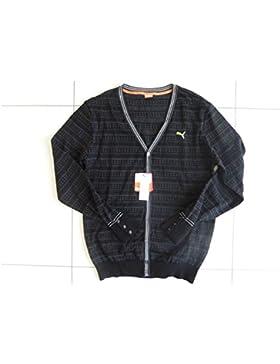 Hombre Puma Golf Japón bajera lana Knit Cardigan Sweater Jersey 901241–01color negro talla L (grande)