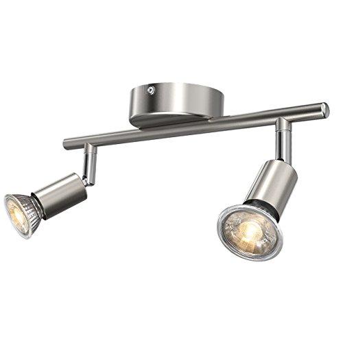 5w Modell (Ascher LED Deckenleuchte Schwenkbar ( Inkl. 2 x 5W GU10 LED Lampe, 450LM, Warmweiß), LED Deckenlampe / LED Deckenstrahler / LED Deckenspot - GU10-Fassung)