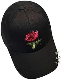 BZLine Unisexe Hip Hop Casquette de Base-Ball - en Coton Mélangé - Fleur  Rose c26af691eae