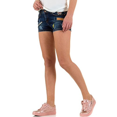 Used Look Hot Pants Jeans Shorts Für Damen bei Ital-Design Blau