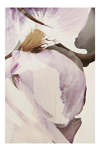 Roman Originals - Robe Femme Motif à Fleurs Pastel Plissé - Femme Ecru