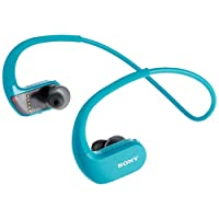 Sony Nw-Ws413 Water Resistant 4Gb Mp3 Player, Viridian Blue, Nw-Ws413/Lm E