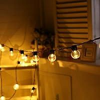 Kingko® Solar Lichterkette Garten Globe Außen mit LED Kugel 10er LED 2 Modi warmweiß Außenlichterkette Beleuchtung... preisvergleich bei billige-tabletten.eu