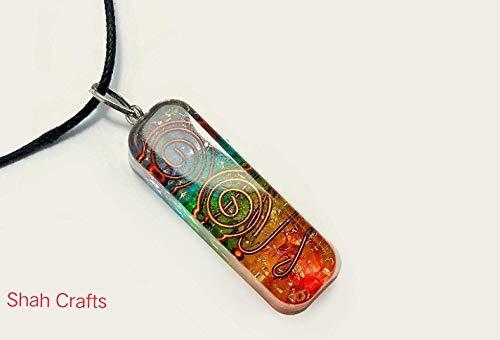 Collar con colgante de 7 chakras Orgone, generador de energía curativa de cristal, protección para yoga y meditación, 7 chakras de equilibrio y aumenta la confianza y la concentración