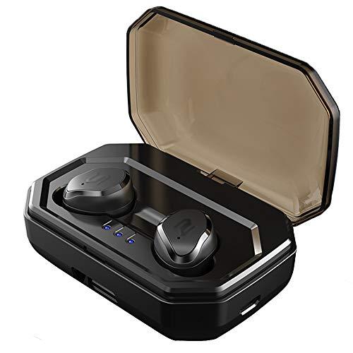 GWJ Bluetooth-Headset, 5.0 Touch Wireless Headset Tiefe Bass Stereo-Rauschunterdrückung Kopfhörer...