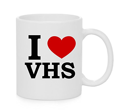 I Heart VHS ( Love ) Mug for 80s or 90s fans