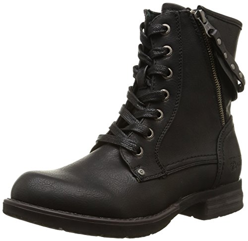 Tom Tailor Damen Biker Boots Schwarz (Black)