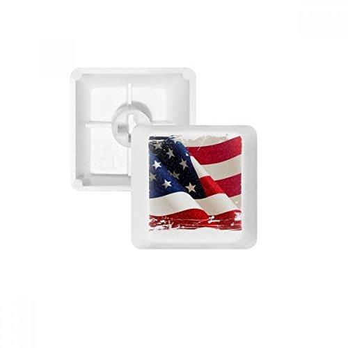 DIYthinker Air Brushing Amerikanische Flagge Amerika-Flagge PBT Keycaps für mechanische Tastatur Weiß OEM No Print R4 Kennzeichnung