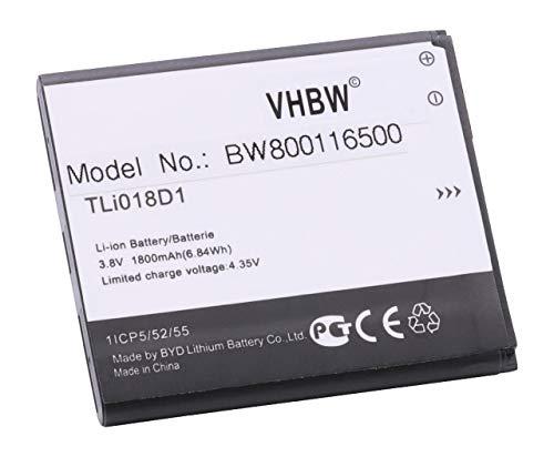 0mAh (3.7V) für Handy Smartphone Telefon TCL One Touch OT-5038, OT-5038A, OT-5038D, OT-5038E, OT-5038X, Pop D5 ()