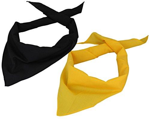 s 2er Pack Dreieckstuch in schwarz/gelb ()