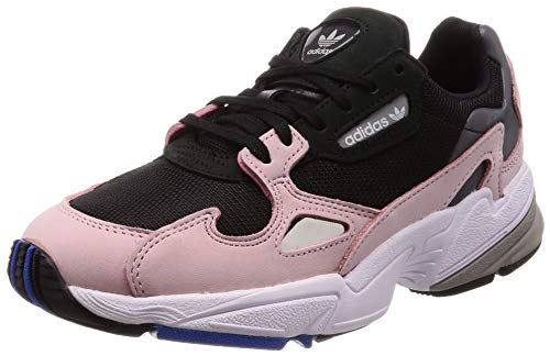Adidas Falcon W, Zapatillas de Gimnasia para Mujer, (Black Cblack/Ltpink), 40 2/3 EU