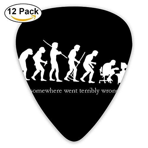 Evolution Guitar Picks 12 Pack Set Paddles Plectrums For Guitarist Players -