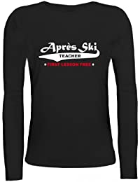 Shirtstreet24, Après Ski Teacher, Apres Wintersport Lady / Girlie Longsleeve Langarm T-Shirt