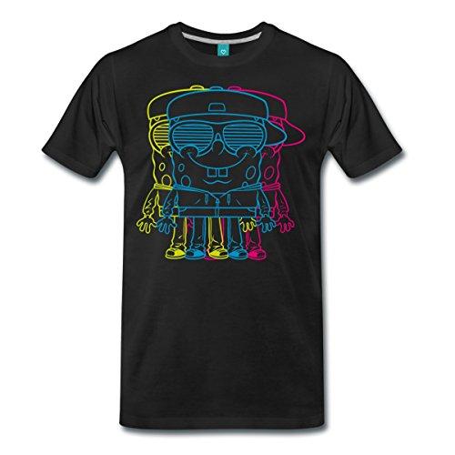 Spreadshirt Bob L'Éponge Multicolore T-shirt Premium Homme, M, noir