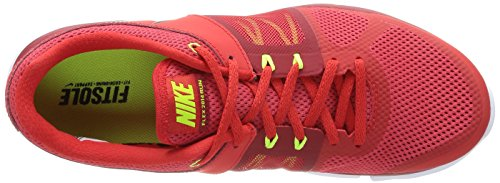 Nike Flex 2014 Rn, Chaussures de running homme Multicolore (Challenge Red/Black-Gym Rd-Vlt)