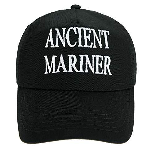4sold Jungen Männer Frauen 100% Baumwolle Kapitän Yachting Baseball Cap Inschrift Schriftzug Sonne Sommer Hut Schwarz Weiß - Ancient Mariner,Kids