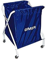 Gimer 10/601 Carro Portapalloni de Tela, Color Azul