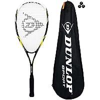 Dunlop Nanomax Ti Squashschlager mit 3 Squashballen