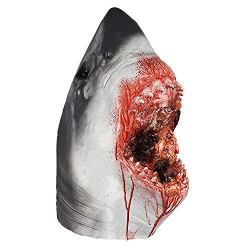 Fische Zombie Erwachsenen Kostüm Für - qiaoaoa Horror Shark Mask Latex Scary Tierkopf Kostümfest Ozean Fisch Kostüme Cosplay Party Halloween Maske
