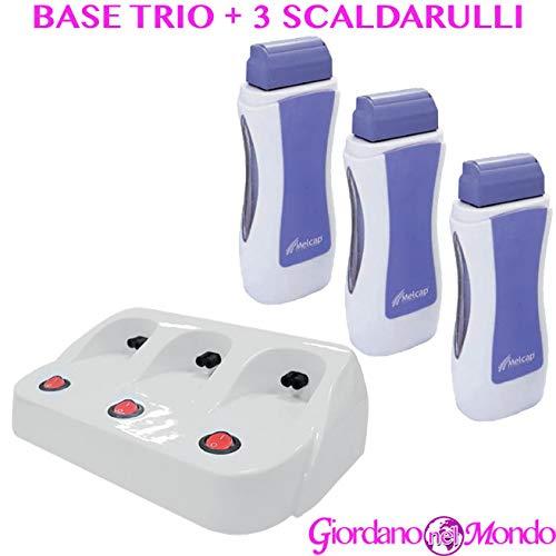 Base trio per rullo cera professionale per ricarica cera ceretta scaldacera per estetista