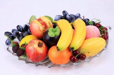 EQLEF® 10 Stück Deko künstliche Früchte Kunstobst Kunstgemüse künstliches Obst Gemüse Dekoration, künstliche Frucht-Dekoration (Obst-dekoration)