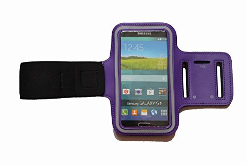 Sport-armband Lila, Fitness-hülle Running Handy Tasche Case für Apple ipod touch g iphone 3 4 5 S C, Samsung Galaxy 3 und 4 mini, Huawei Y330, Nokia Lumia 530, 532 mit Kopfhöreranschluss - Dealbude24 (Lila) -