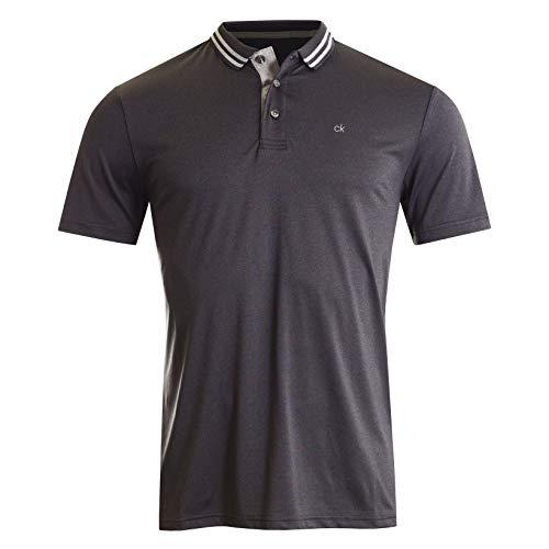 Calvin Klein Herren Poly Jersey TECH Polo Golf-T-Shirt, Charcoal Marl, X-Groß - Spandex T-shirt Jersey
