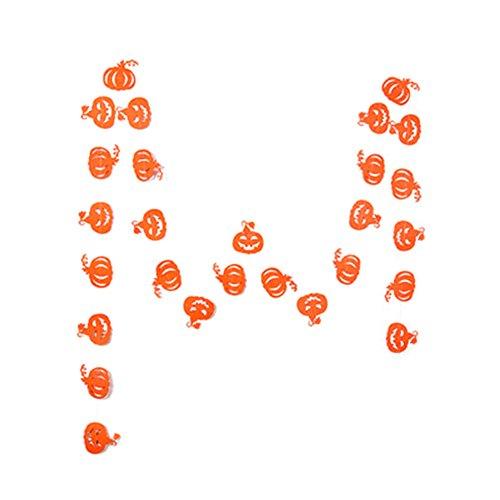 pel Stoffgirlande Girlande Kürbis Knoblauch Bunting Wimpelkette Farbenfroh Wimpeln Papier Banner für Kinderzimmer & Baby Geburtstage Hochzeit Dekoration Dreieck Flagge -Orange ()