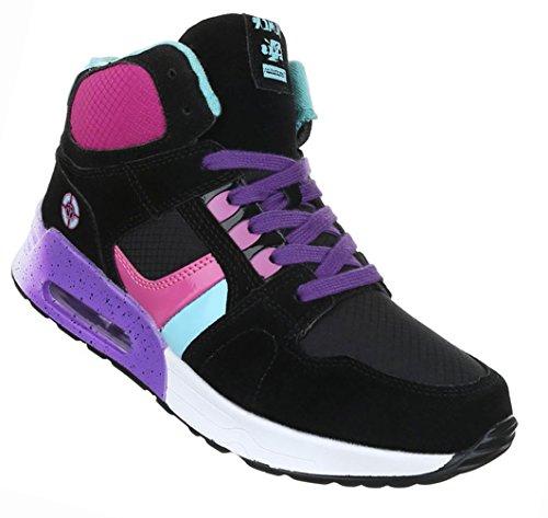 Damen Schuhe Freizeitschuhe Sportschuhe Schnürer Schwarz Multi Schwarz